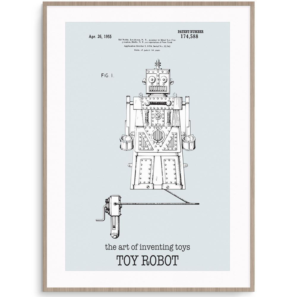 Fizzy Art Toy Posters Robot Poster nursery art kids wall art