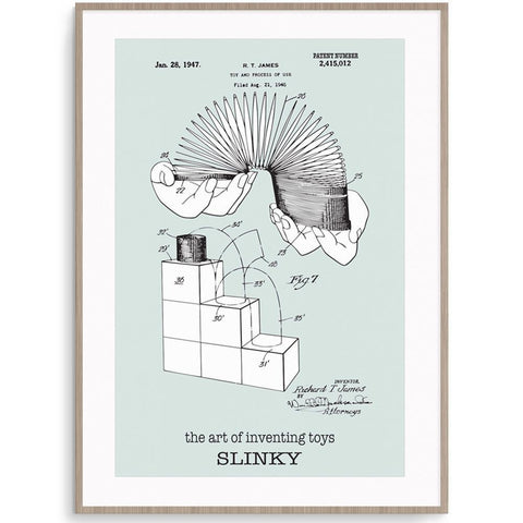 Fizzy Art Toy Posters Slinky Poster nursery art kids wall art