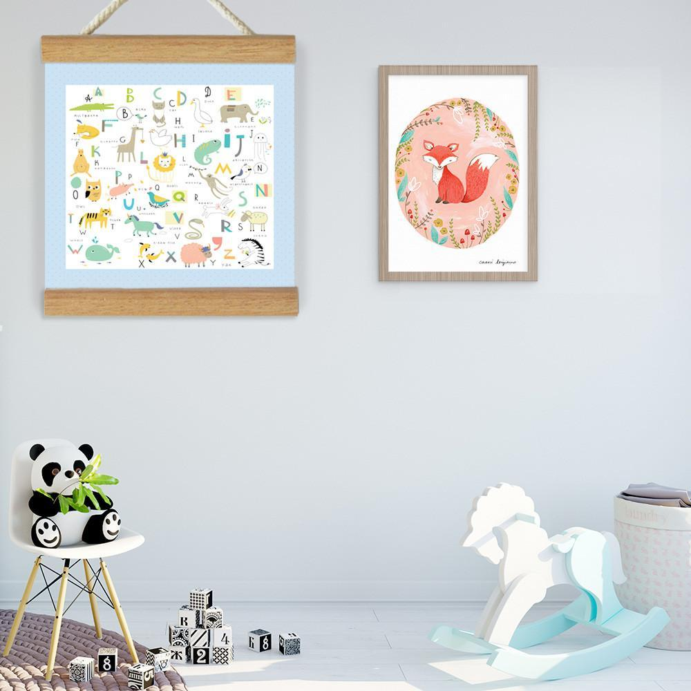 Fizzy Art Wall Décor Animal ABC Large Banner nursery art kids wall art