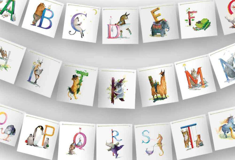 Animo Wall Décor Animal Alphabet Bunting nursery art kids wall art