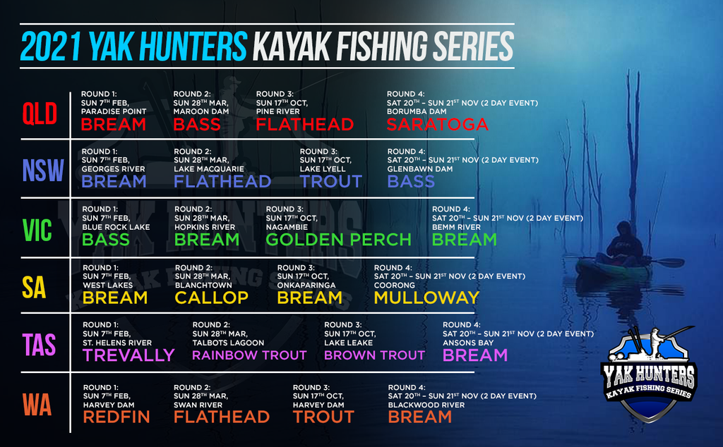 2021 Yak Hunters Kayak Fishing Series 4 - Season Pass - Yak Hunters Australia