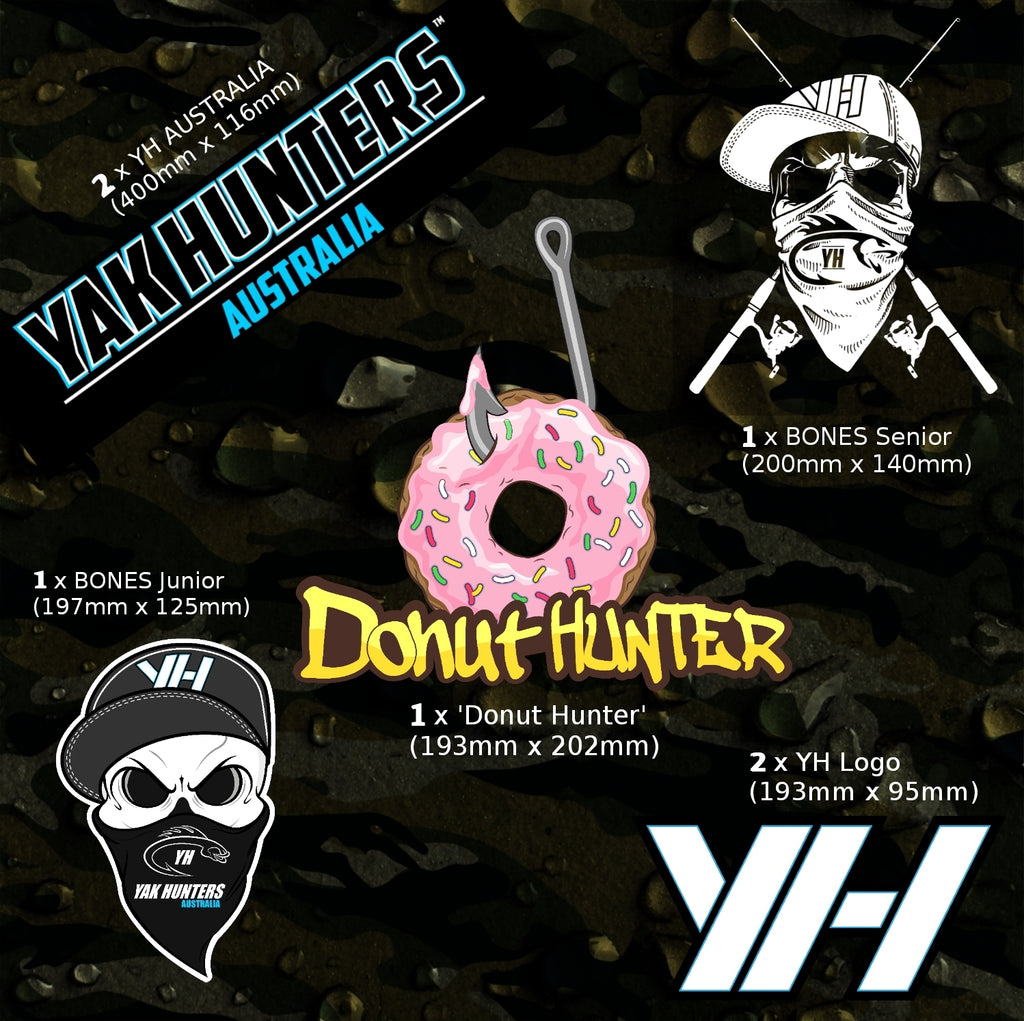 Yak Hunters PREMIUM Vinyl sticker Bundle pack