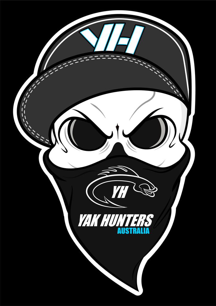 "YH ""Bones Jr"" Sticker - Yak Hunters Australia"