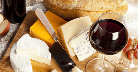 Novel Wines Wine Flight Highlights with Cheese Pairing