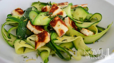 A Recipe for Courgette Noodles and Crispy Halloumi cheese