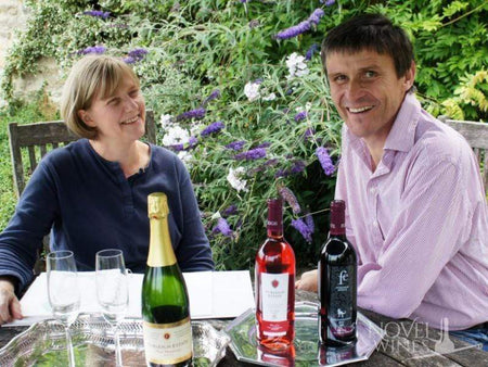 Meet Furleigh Estate English vineyard owners Rebecca Hansford and Ian Edwards from Dorset