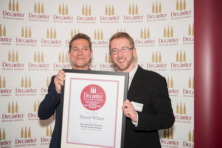 Novel Wines wins the Decanter Award for 'Best Central & Eastern European Retailer' second year running!