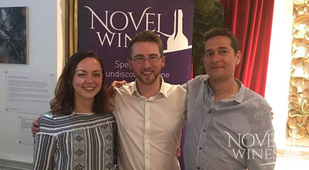 Marina Pellegrini, Ben Franks and Gyorgy Zsiga of Novel Wines