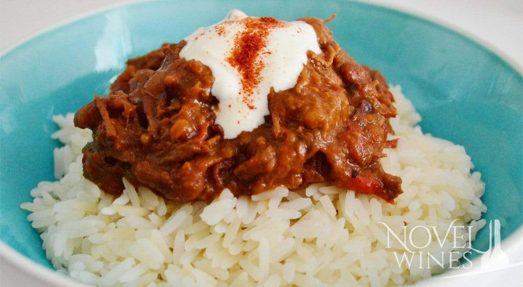 Slow-Cooked Chilli Con Carne, Paired with Babylonstoren Shiraz