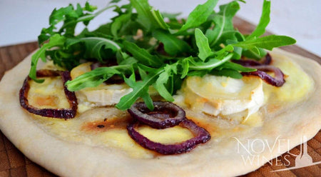 White Goat's Cheese Pizza recipe paired with Pilato Malvasija