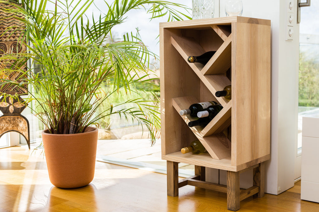 Forest to Home Ash Wine Bottle Display Unit