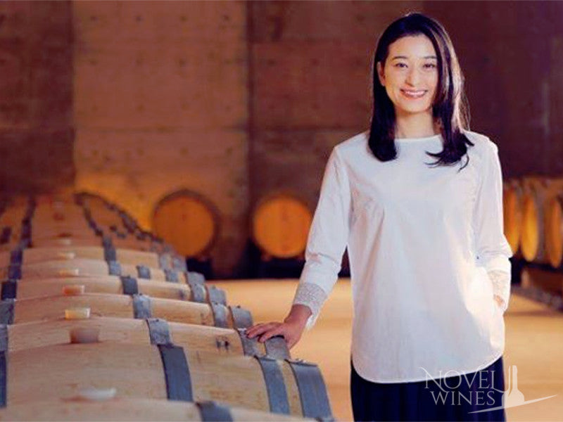 Ayana Misawa in the winery