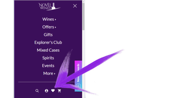 How to view your wine Wish List from your mobile phone