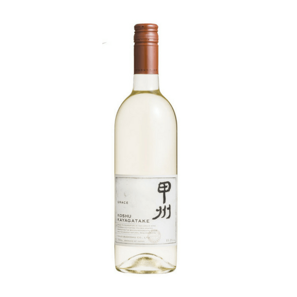 Japanese white wine Grace Koshu Kayagatake from Yamanashi Provence, Decanter award-winning wine, buy online from Novel Wines