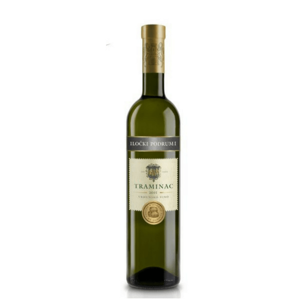 Ilocki Podrumi Traminac Premium Croatian white wine also known as Gewurztraminer
