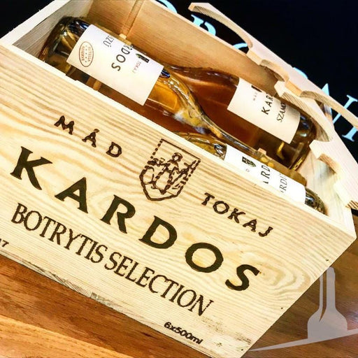 Kardos Tokaji Botrytis Selection in Wooden Box, 6 Bottles, Hungary