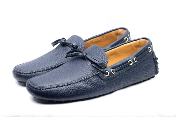 Driving Shoes Pelle Martellata navy - Car Shoe