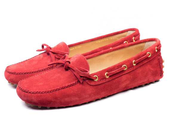 Driving Shoes Scamosciato scarlet red - Car Shoe