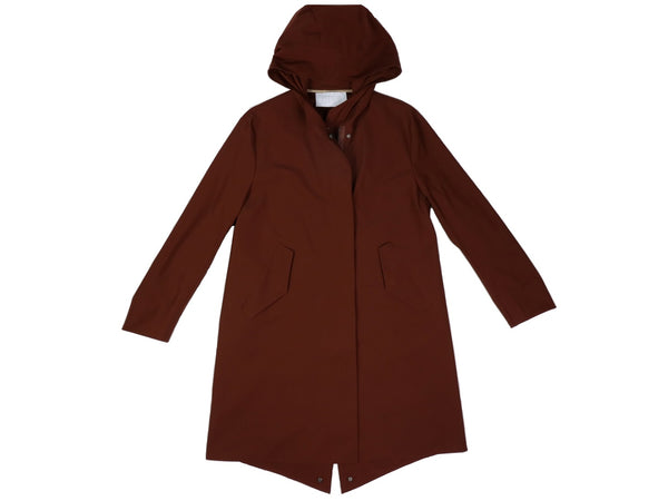 Long Parka da donna Harris Wharf London Codice A1438-PYZ Colore 515 BRICK