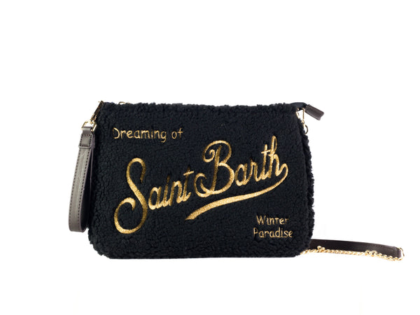 Pochette da donna Saint Barth modello Parisienne W, materiale Sherpa. Colore 00OR.