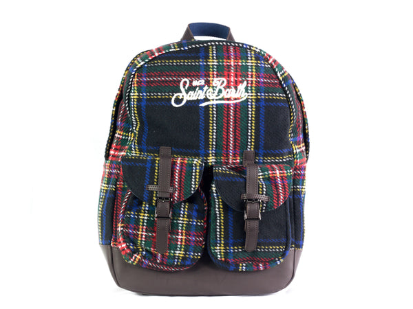 Zainetto da donna Saint Barth modello Cody W, materiale Tartan. Colore 61.