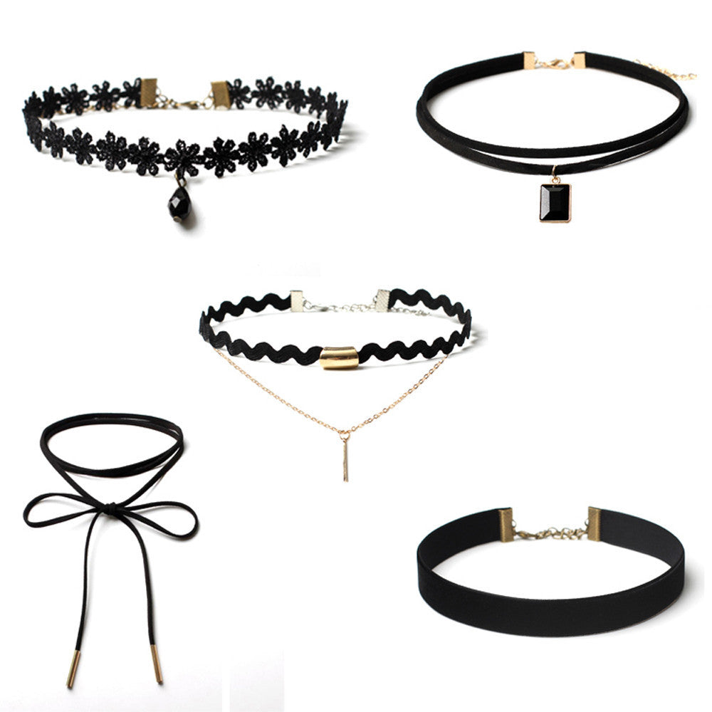 Choker Necklace Set | 5 Piece