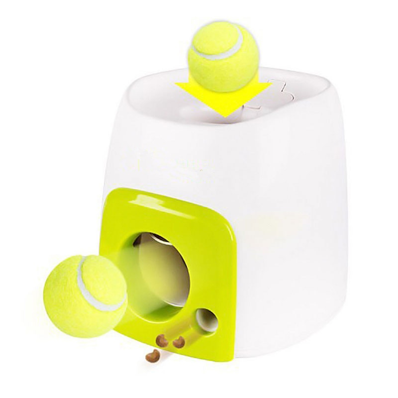 Interactive Tennis Ball Throwing Treat Dispenser