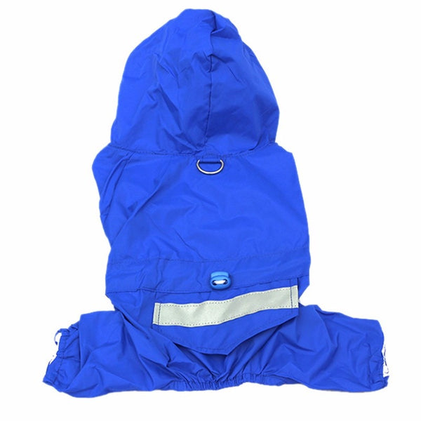 Dog Raincoat Puppy Rain Coat with Cap Waterproof Jacket Raincoat Dog Cat Reflective Waterproof Apparel Rainwear Cloth Jackets