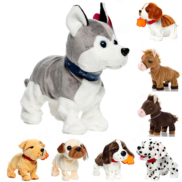 Sound Control Dogs Interactive Puppy Robot Pet Dog Bark Stand Walk Soft Toys for Shih Tzu