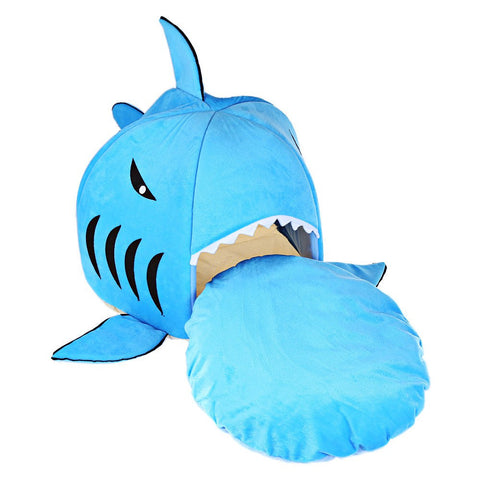 Blue Shark Bed For Shih Tzu