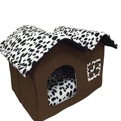 Cotton Folding Dog House with Mat