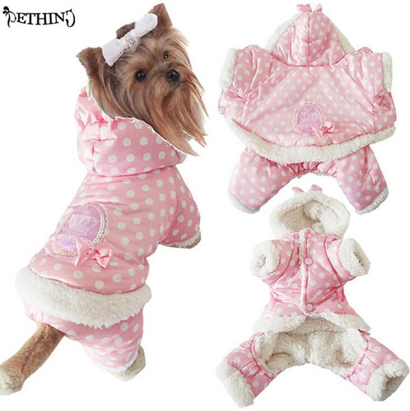 Warm Short Floss Shih Tzu Winter Outfit