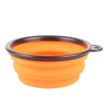 Collapsible Shih Tzu Bowl, Food Grade Nontoxic Silicone BPA Free, Foldable Expandable Cup Dish for Your Shih Tzu's Food and Water - Feeding Portable Travel Bowl
