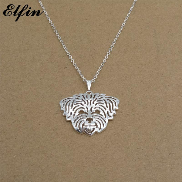 Cute Shih Tzu Face Necklace