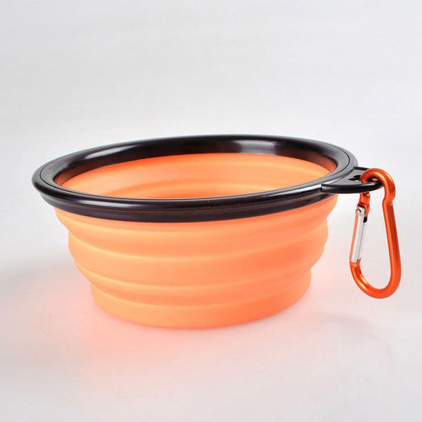 Foldable Silicone Dog Bowl Outdoor Travel Portable Collapsible Shih Tzu Feeding Dishes Water Bowl