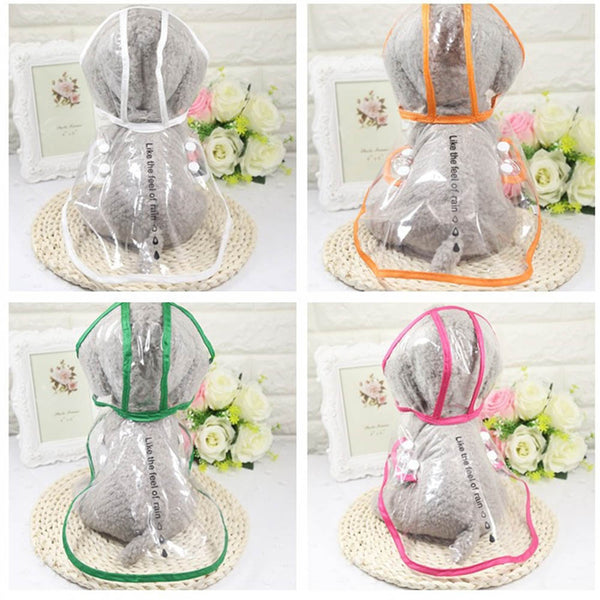 Transparent Rain Coat for Shih Tzu