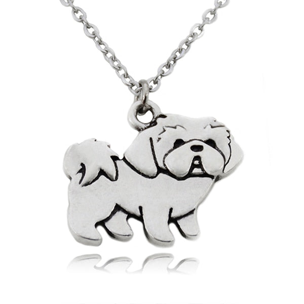Vintage Boho Shih Tzu Dog Charms Pendant and Necklaces