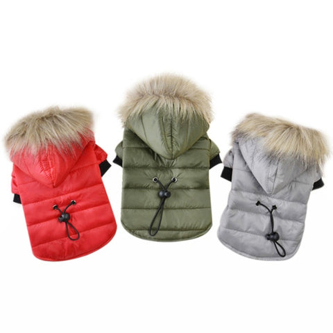 Warm Winter Fur Jacket for Shih Tzu