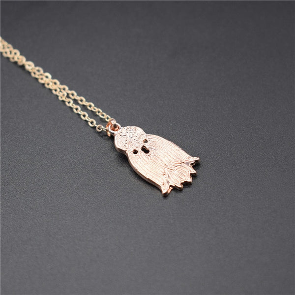 Elfin Trendy Shih Tzu Head Necklaces