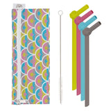 Silicone Straw Set 'SILISTRAWS' with Waterproof Pouch