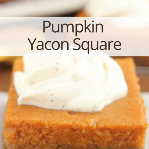 Pumpkin Yacon Square recipes