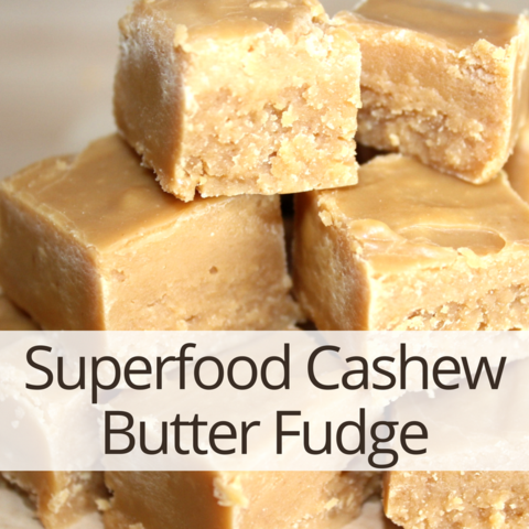 Maca Lucuma Cashew Butter Fudge Recipe