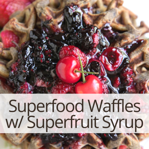 Maca & Mesquite Waffles with Yacon Syrup recipes