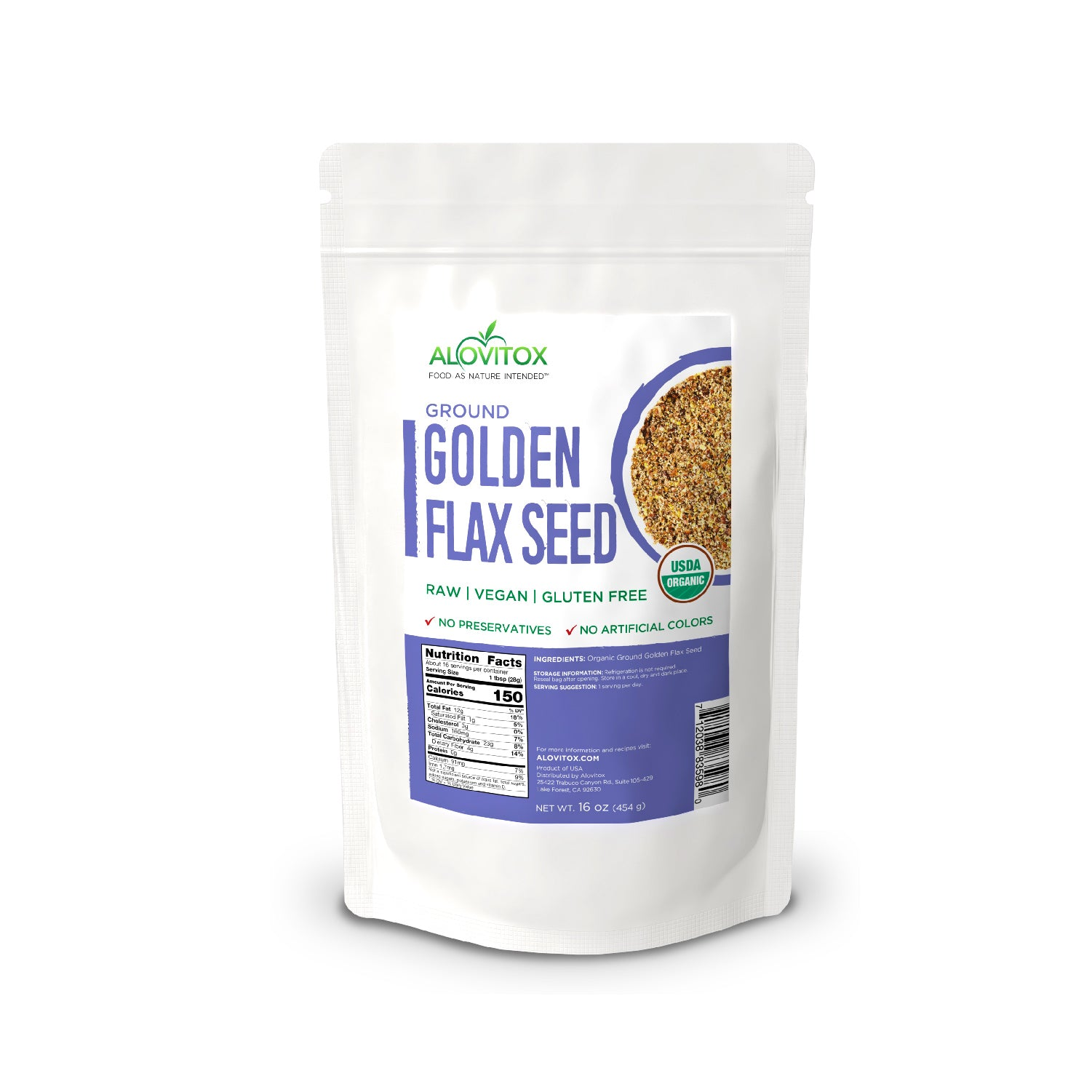 Certified Organic Ground Flaxseed