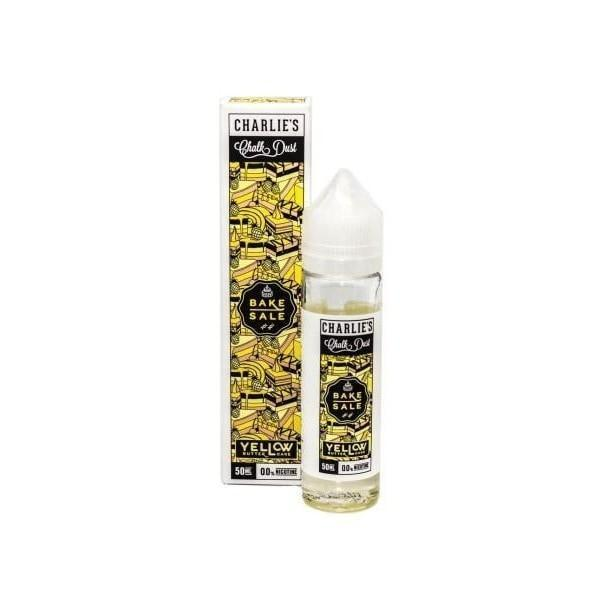 Charlie's Chalk Dust Vaping Products Yellow Butter Cake Bake Sale by Charlie's Chalk Dust 0MG 50ML Shortfill (70VG/30PG)
