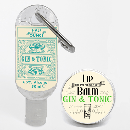 Alcohol Gel and Lip Balm G&T Set