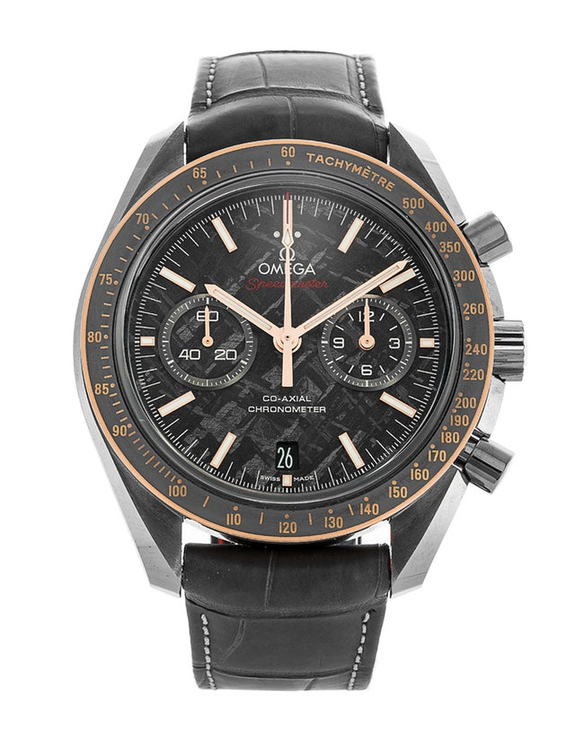 Omega Speedmaster Moonwatch Co-Axial Chronograph Grey Side of the Moon Meteorite Ceramic Men's Watch