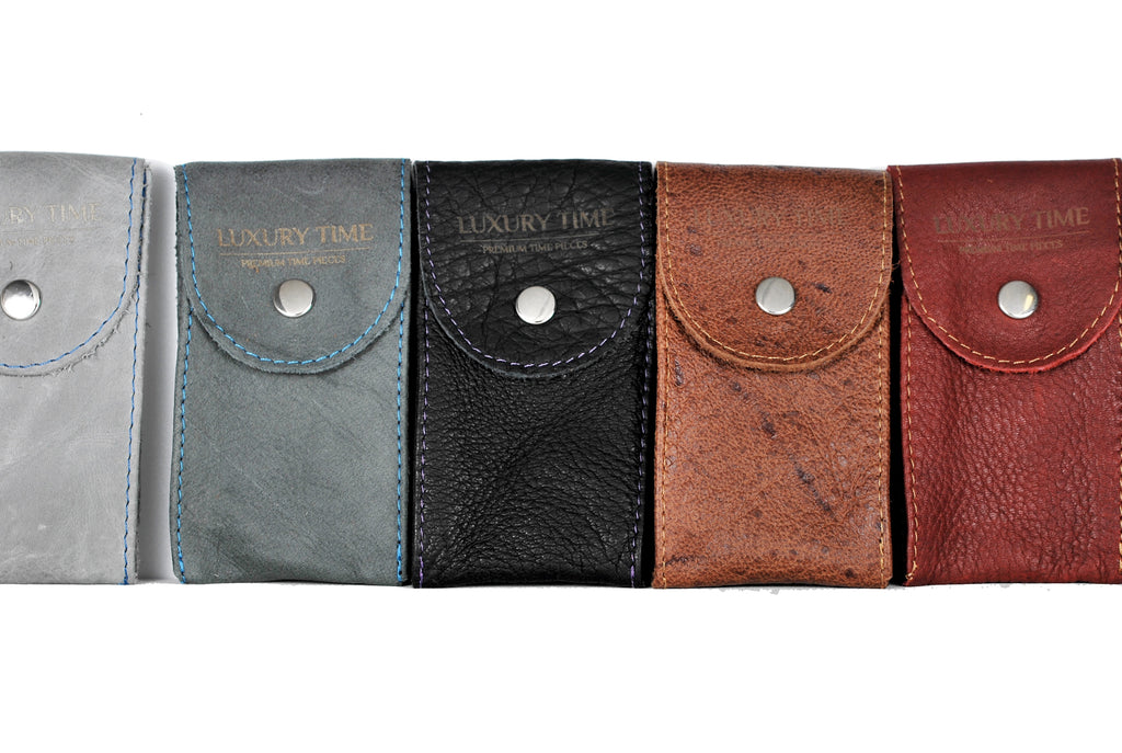 Luxury Time Leather Watch Pouches