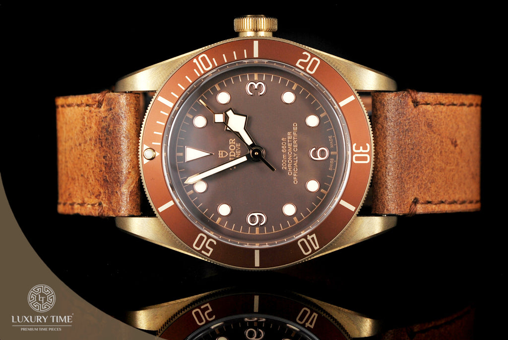 Tudor Heritage Black Bay Bronze Automatic Leather Strap Men's Watch