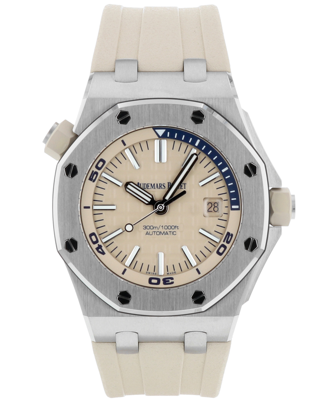 Audemars Piguet Royal Oak Offshore Stainless Steel Beige Automatic Men's Watch